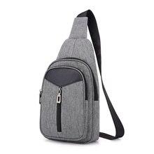New Chest Bag for Men Crossbody Men's Casual Messenger Bag Sling Male Shoulder Waist Bag Handbag Large Capacity цена