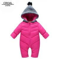 70 110cm Fashion Winter Thickening Newborn Baby Rompers Girls Bodysuit Kids Boy Clothes Cotton Snowsuit Jumpsuit