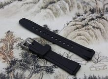 Watchband black silicone rubber bracelet for Casio W-752 watches accessories