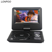 LONPOO 7 inch Portable DVD VCD Player with TFT Screen Display Support TV VCD CD MP3/4 USB GAME Mobile TV home DVD player