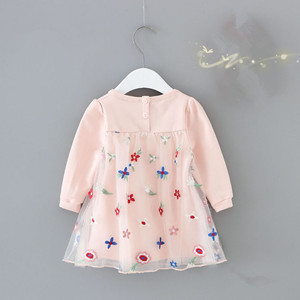 Image 2 - Girls Dresses Lantern Sleeve Flowers Embroidery Ball Gown for Kids Clothes Wedding Party Tutu Dress Christmas Children Clothes