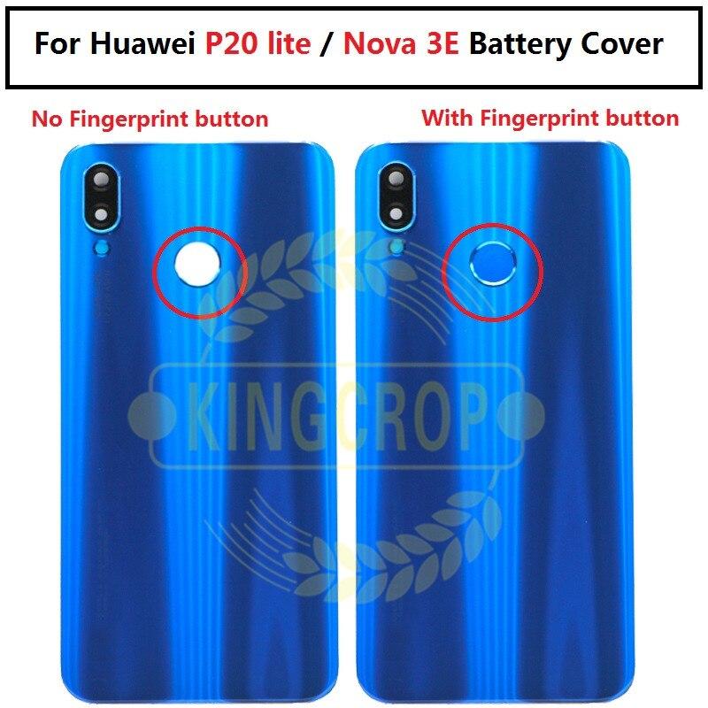 Original Huawei Nova 3e P20 Lite Back glass Battery Cover Rear Door