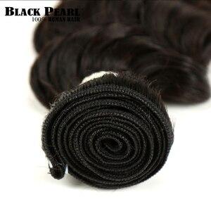 Image 4 - Czarna perła Ombre głęboka fala brazylijski włosy wyplata wiązki T1B/4/27 ludzki włos trzy Tone włosy blond 1 /3/4 wiązki nie Remy