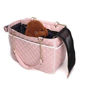 Image 4 - Elegante Dame Tragetaschen Für Hunde Im Freien Reise Wenig Kleine Rassen Welpen Katze Haustier Träger Handtasche Tote Tasche Für Yorkshire
