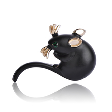 Cute Mini Mouse Brooches For Women Man Kids Crystal Broches Suit Sweater Coat Pins Hijab Scarf Clip Schmuck hommes Femmes Spille