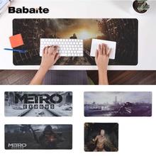 Babaite Custom Skin Metro Exodus  Silicone large/small Pad to Mouse Game Free Shipping Large Keyboards Mat