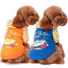 Foreign trade new dog clothes Printed fleece car manufacturers selling pet dog clothes