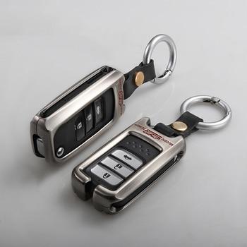 Keychain אבץ סגסוגת רכב מפתח מקרה עבור הונדה Fit ג 'אז אקורד סיוויק CR-V XRV טייס