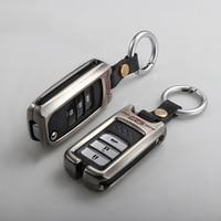 Keychain zink legierung Auto Schlüssel Fall Für Honda Fit Jazz Accord Civic CR V XRV Pilot-in Schlüsseletui für Auto aus Kraftfahrzeuge und Motorräder bei