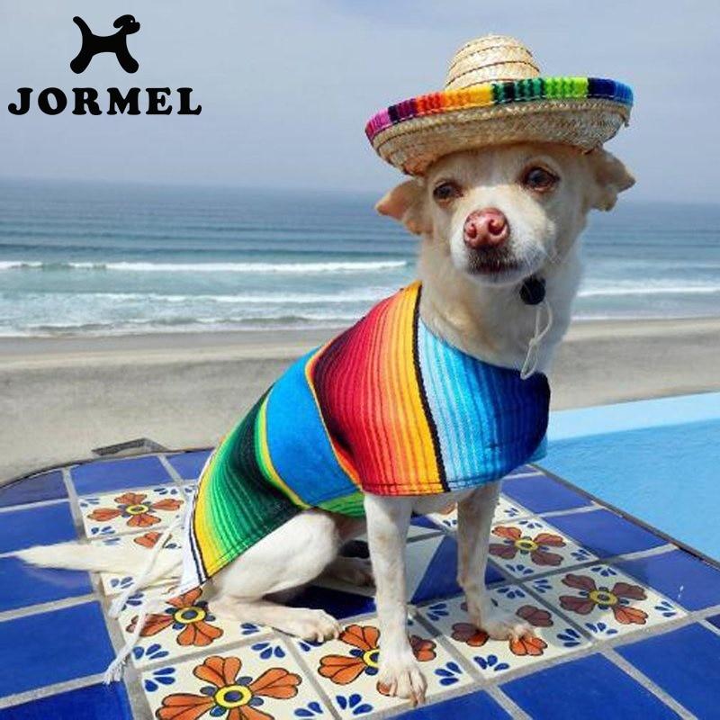 JORMEL Mini mascota perros Sombrero de sol playa fiesta sombreros de paja perros  estilo mexicano Sombrero para perros y gatos accesorios divertidos en ... 3a670377cea
