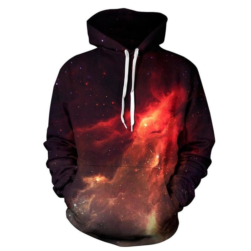 2017 Men&Women Hoodies Causal Style Sweatshirts 3D Print Fire Space Tracksuits Couple Streetwear Hip Pop Motorcycle Coat Tops