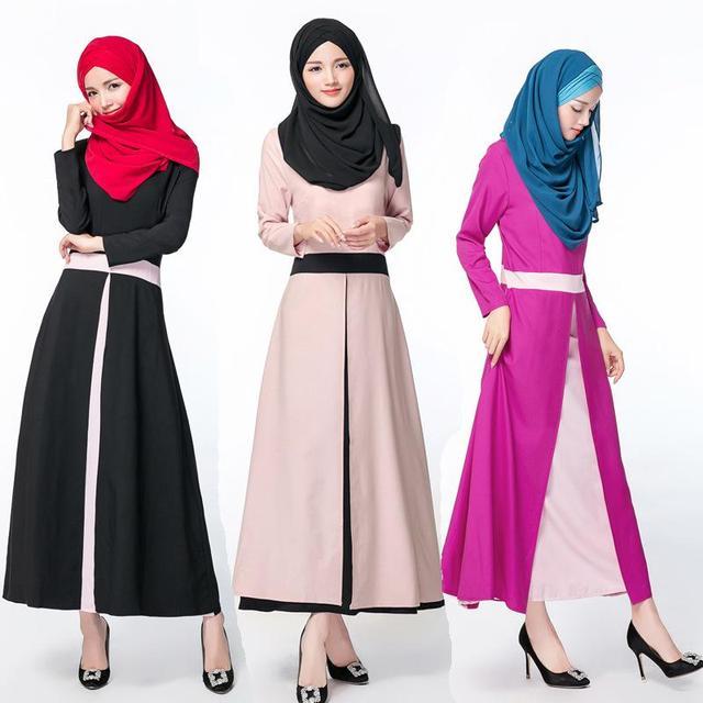 Мусульманские длинное платье турецкая исламская одежда халат мусульманского женщины абая в дубае свободный размер шифон кафтан 2016 новый стиль одежды