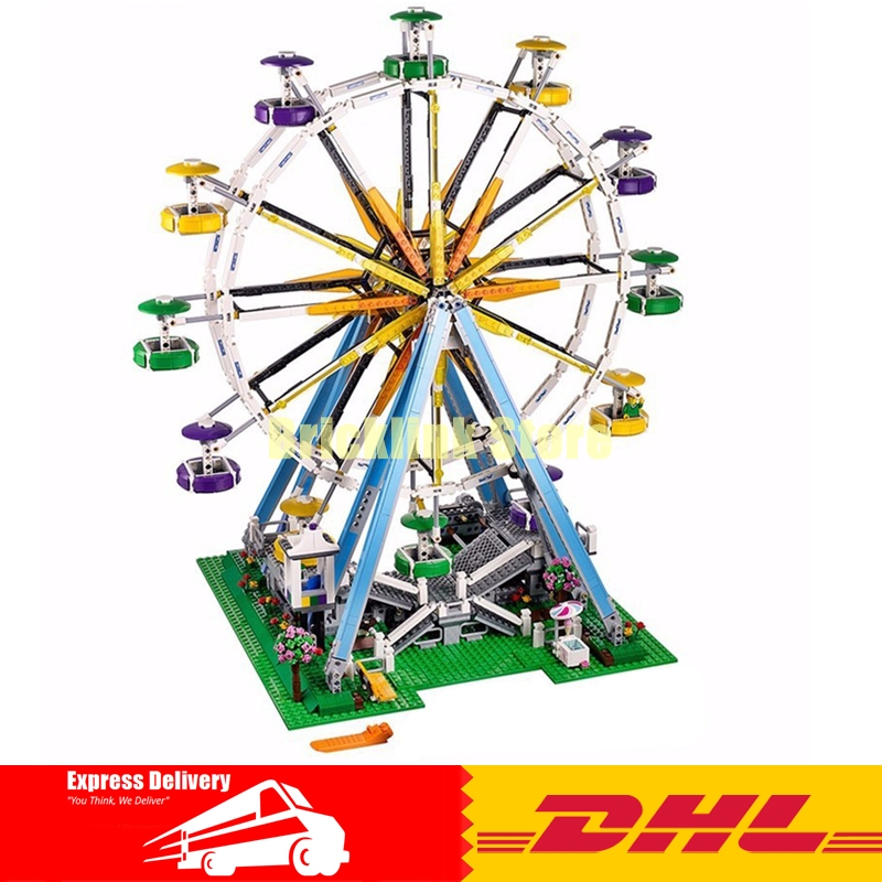 DHL LEPIN 15012 2478Pcs City Expert Ferris Wheel Model Building Kits Blocks Bricks Toys Compatible 10247 2478pcs lepin 15012 city expert ferris wheel model building kits assembling block bricks compatible with 10247 educational toys