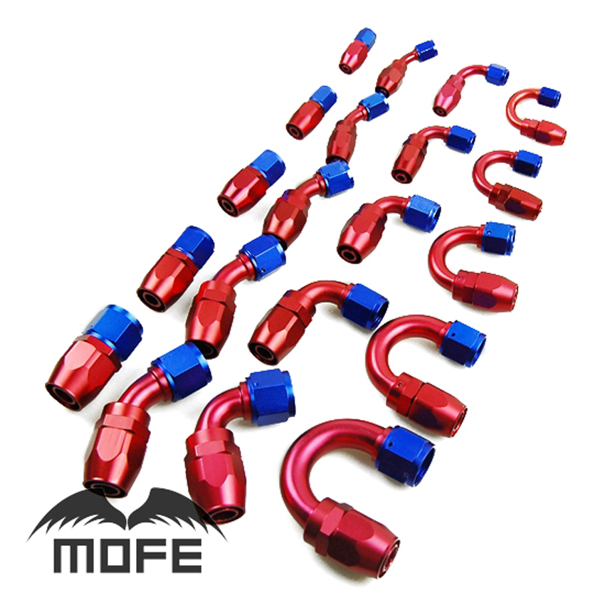 SPECIAL OFFER 20PCS LOT AN6 Oil Fuel Adaptor Swivel Straight 45 90 180 Degree Reusable AN