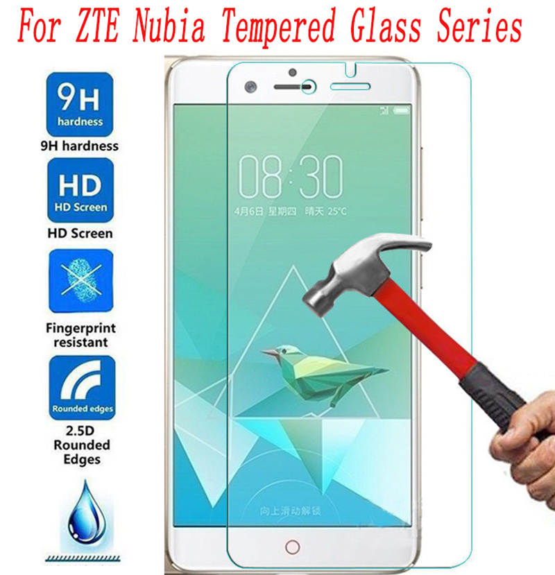 2PCS NEW Screen Protector For ZTE Nubia Red Magic Z18 Mini Z17 MiniS Z17s Z11 Blade L8 A3 A5 2019 Mobile Tempered Glass(China)