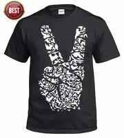 Retro Barış Işareti Logosu Hippy Unisex T-Shirt Rasta El Kuşlar kanatları S 3XL Üst Baskılı T Gömlek Kısa Kollu erkekler