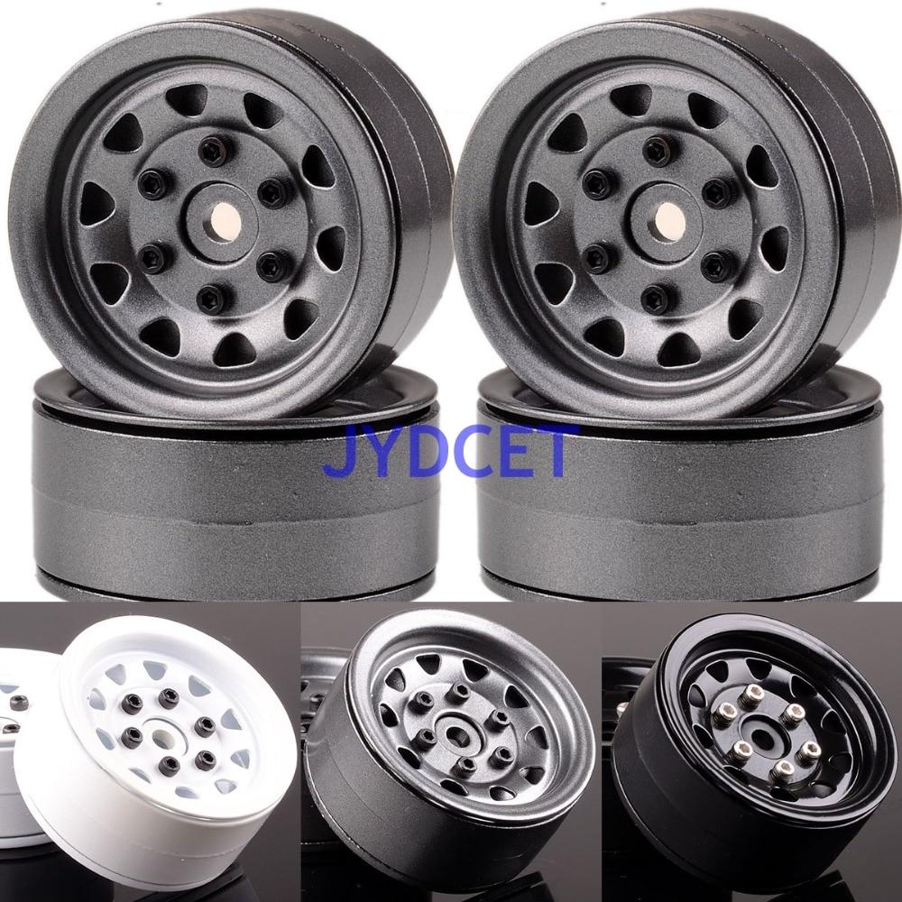 1066 1.9 Beadlock Aluminum Wheel Rim For RC 1/10 Rock Crawler Axial TRX-4 TRX4 mxfans rc 1 10 2 2 crawler car inflatable tires black alloy beadlock pack of 4