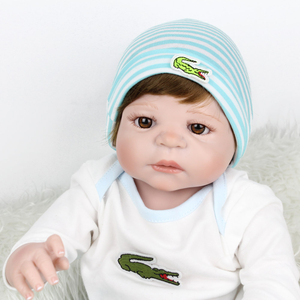 Wholesale Hot Style Full Silicone Reborn Baby Doll 55cm 22 can Wash Best Bebe Reborn Doll Christmas Gift for Girls BrinquedosWholesale Hot Style Full Silicone Reborn Baby Doll 55cm 22 can Wash Best Bebe Reborn Doll Christmas Gift for Girls Brinquedos