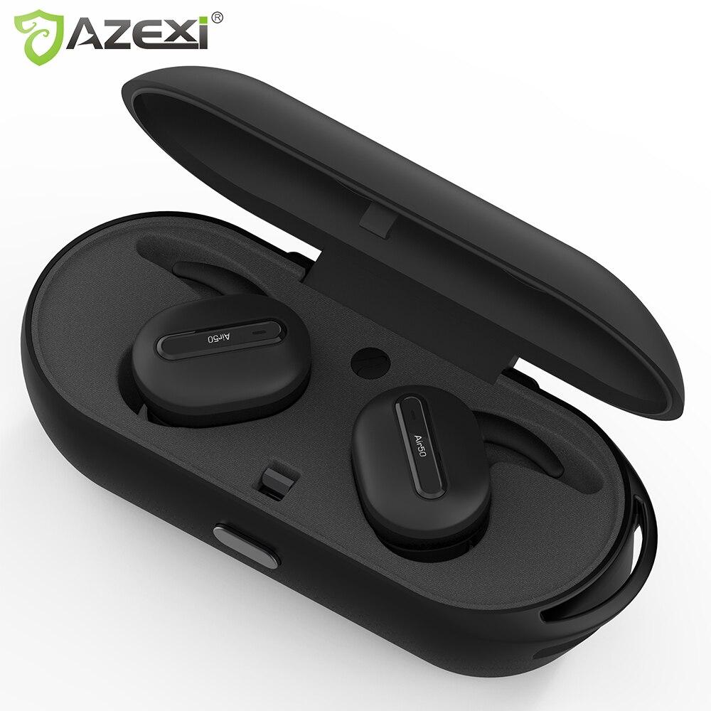 Vrai Sans Fil Bluetooth écouteurs Stéréo Binaural Sport Écouteurs In-Ear Écouteur Microphone Intégré avec Imputable Mini Boîte