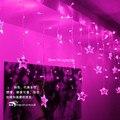 LEVOU Guirlandas de Natal Festa de Casamento Quarto Casamento Decoração Da Janela Lustre de Iluminação 3.5 M 96 LEDs 18 p cinco pontas-estrelas