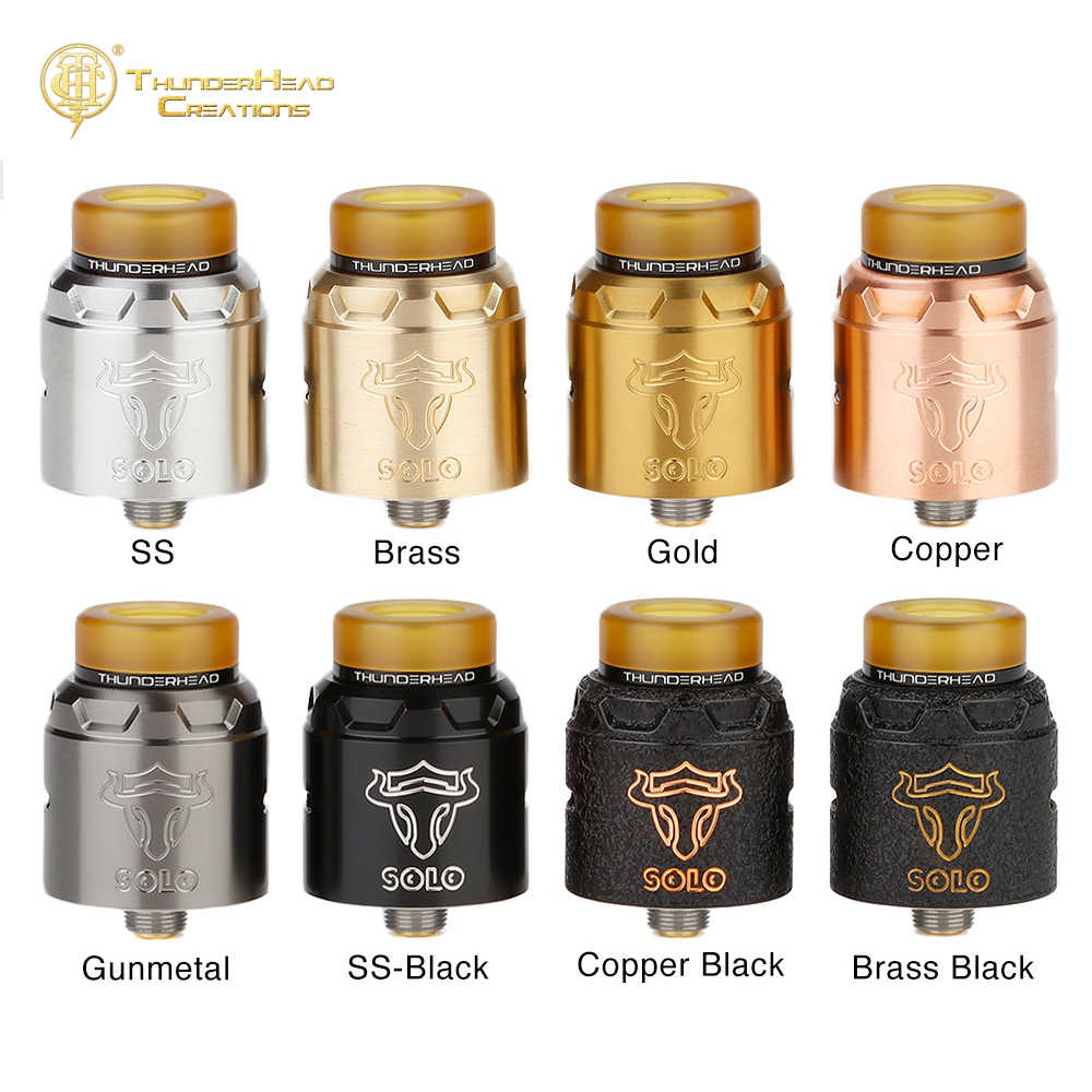 Original THC Tauren Solo RDA with 24mm Diameter & Easy Single Coil Build Deck & 31-micro Air Holes E-cig Tank VS Zeus Dual/ Loop
