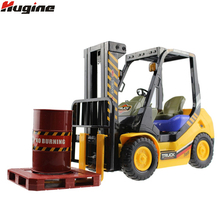 RC Truck Forlift 4WD 6CH Remote Control Fork Shovel Truck Lift Pallets Engineering Vehicle Model Electronic