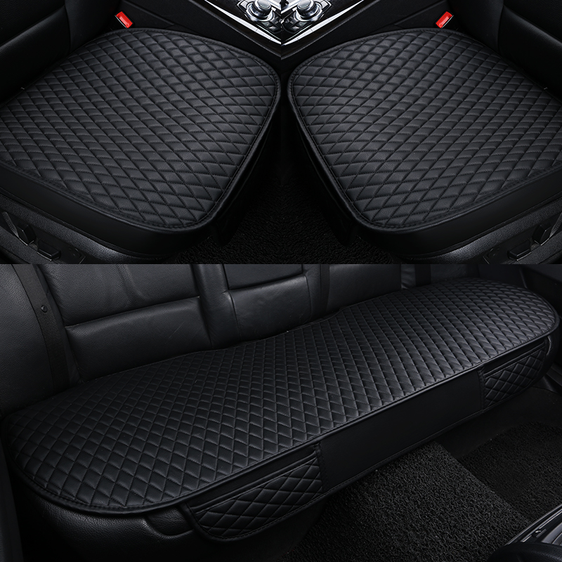 купить Car seat covers 4 seasons premium pu Leather Car Seat Cushion pads single general car seat cushions, car seat covers по цене 2817.71 рублей