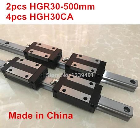 HG linear guide 2pcs HGR30 - 500mm + 4pcs HGH30CA linear block carriage CNC parts 2pcs sbr16 800mm linear guide 4pcs sbr16uu block for cnc parts