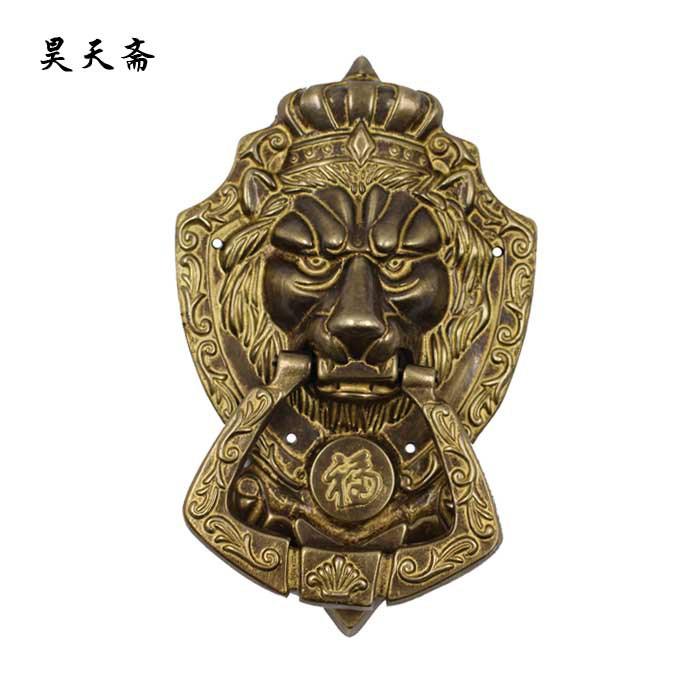 [Haotian vegetarian] antique copper beast handle / Antique Hardware / antique furniture copper fittings / HTA-022 [haotian vegetarian] antique copper straight handle antique furniture copper fittings copper handicrafts htc 041