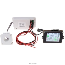 Wireless Multifunction Voltmeter Ampere Meter DC 0-80V 0-300A with Hall Sensor Data Transmission color LCD