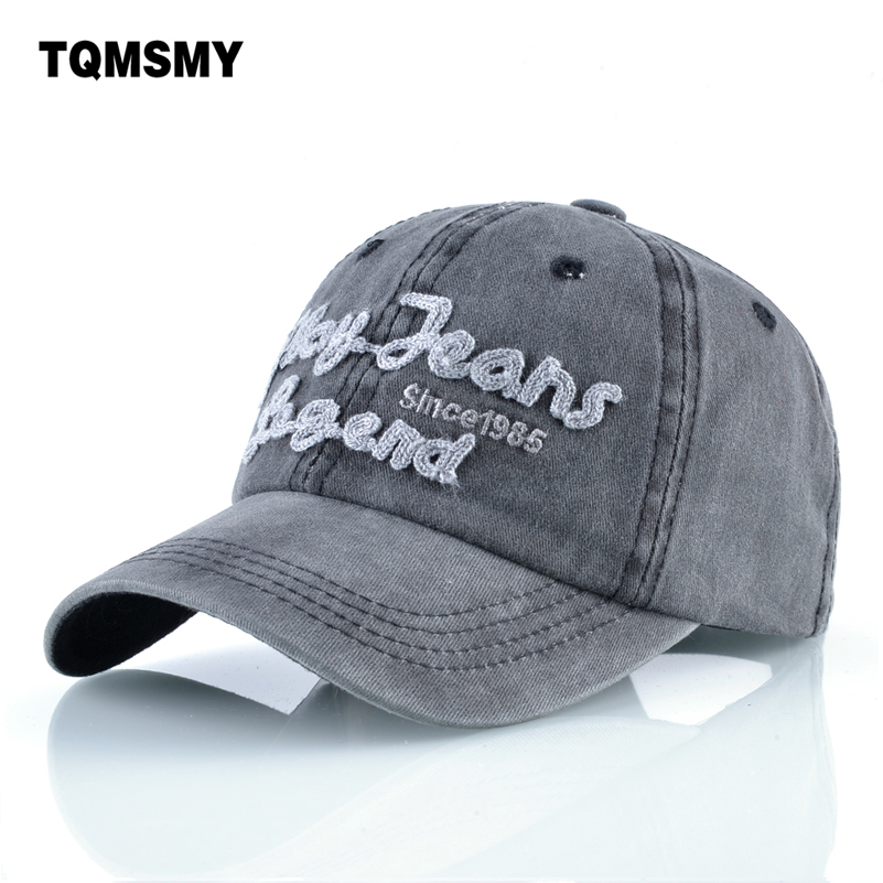 Spring Washed denim hat women summer sun hats Unisex Snapback   cap   men cotton   baseball     caps   casual Hip hop   cap   for women bone