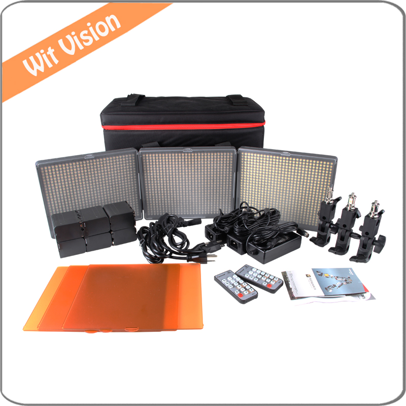 Aputure Amaran LED Video Studio Lighting Kit HR672 3 Light Photography Kit with Carry Bag an Remote Control