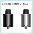 original GeekVape Tsunami 24 RDA  with an Velocity style deck features a hollowed positive pin for Squonk mod compatibility