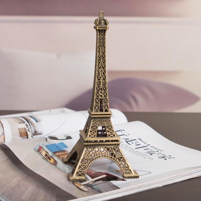 1pc Home Decor Eiffel Tower Model Art Crafts Gifts Travel Souvenir Home Decoration Vintage Metal Building