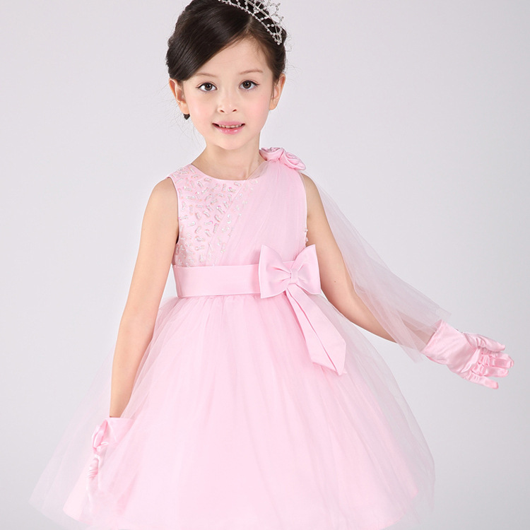 2016 Winter New Christmas Dresses Princess Baby girls Clothes Children Clothing Wedding party Kids Dress for girl 5 6 7 Birthday