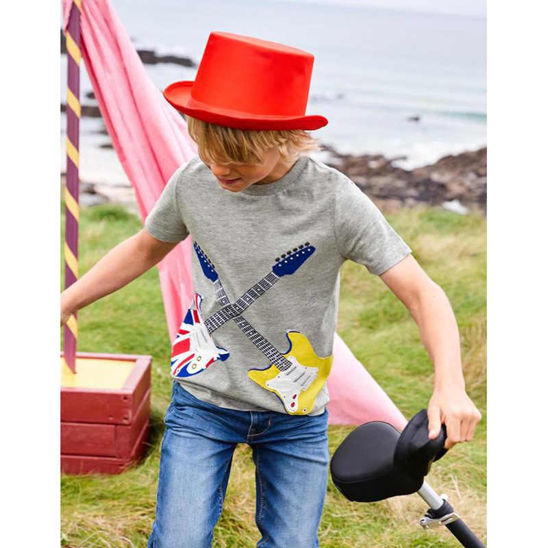 2-12 년 어린이 T 셔츠 악기 짧은 소매 티셔츠 소년 소녀 탑스 어린이 여름 의류 아동 운동복