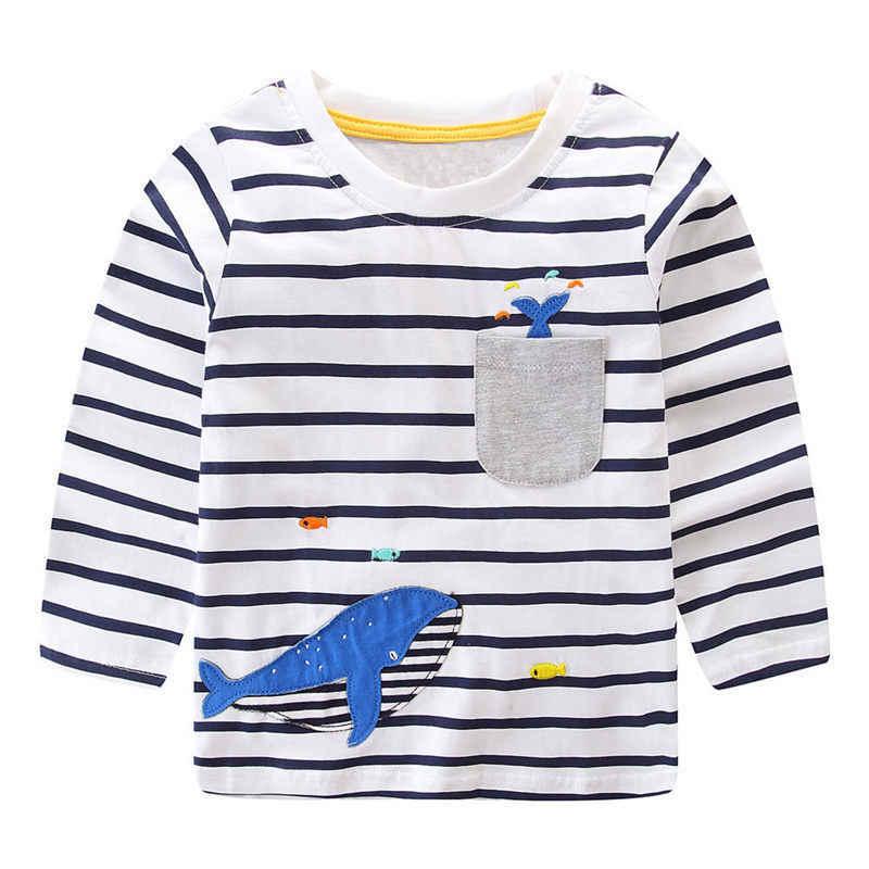 Littlemandy بنين القمم عيد الميلاد ثلج يزين طويلة الأكمام الملابس 2019 ماركة قميص للأولاد ملابس الأطفال القمصان القطن