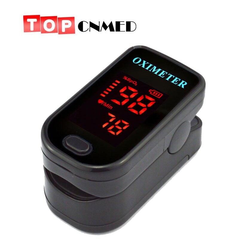 CE ISO Schönes Design Fingertip Pulsoximeter zwei richtungen display 4 Farben Blut Sauerstoff Monitor