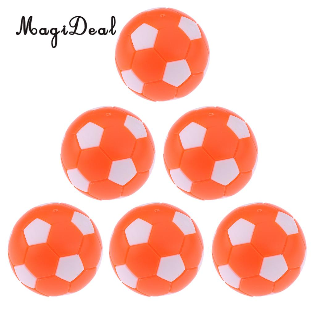 MagiDeal 6 pieces Table Football Soccer Machine 36mm Plastic Foosball Orange