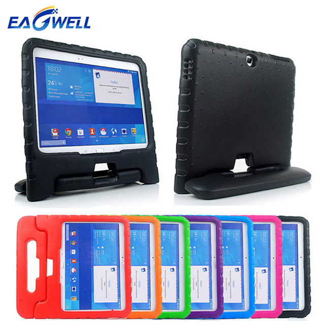 in stock bf84d 907ef US $15.56 13% OFF|Kids Children Shockproof Case For Samsung GALAXY Tab 4  10.1 inch T530 T531 EVA Foam Tablet Stand Cover Drop Proof Protect Case-in  ...