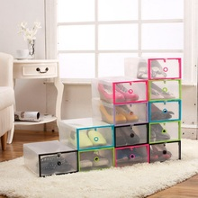 1pc Stackable Plastic Transparent shoes Container home Sundries living room kid toys containers home Storage Box Organizer cases