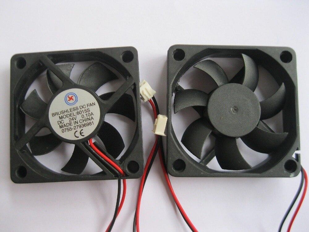 10 Stücke Bürstenlosen Dc Kühlung 7 Klinge Fan 6015 S 24 V 60x15mm Schwarz