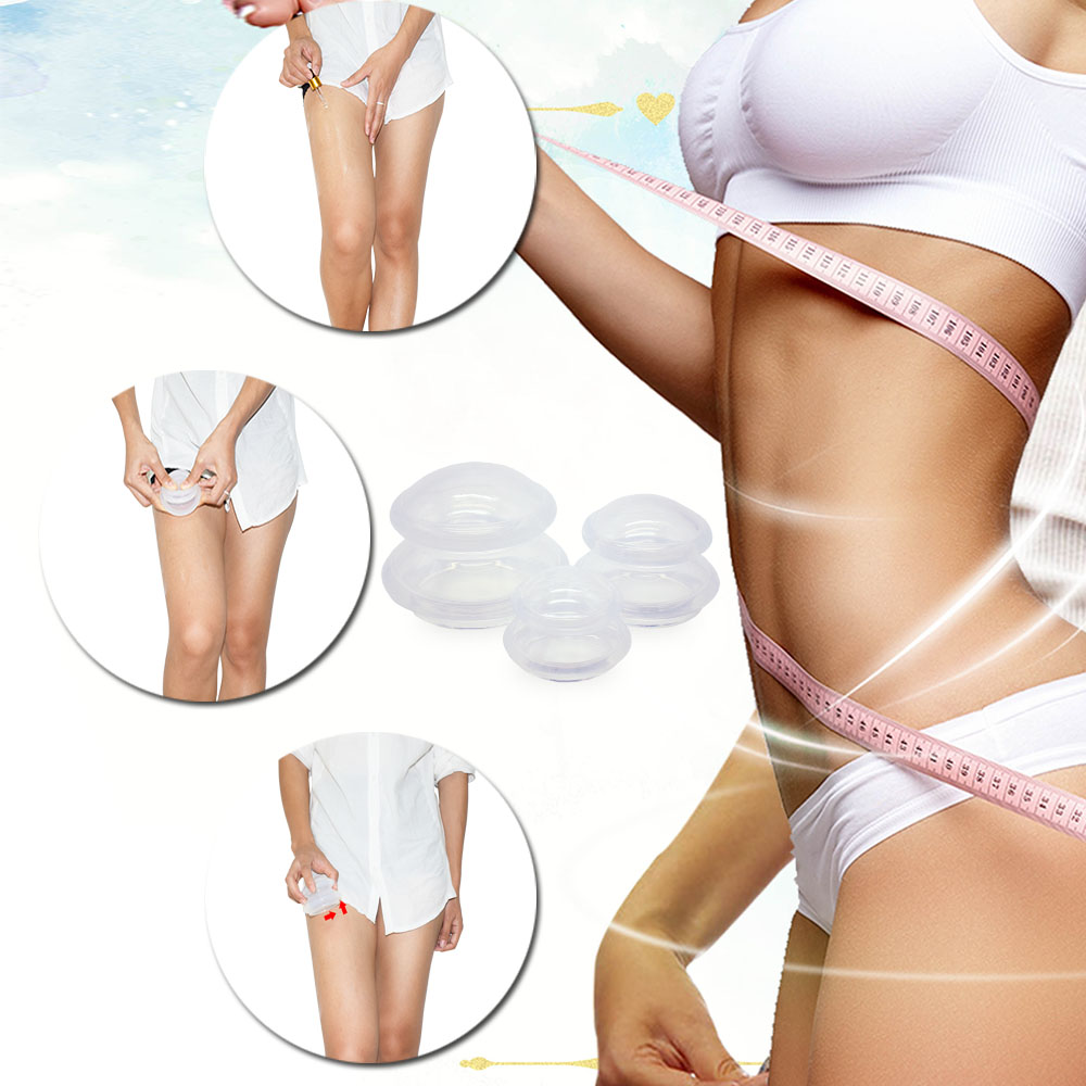 Chinese Professional 100% Silicone Cup Therapy Set 3 Sizes Anti-Slip Massage Cupping Cups Release Toxins 3PCS