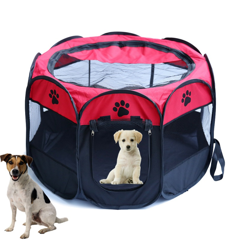 portable folding pet tent dog house fordable travel pet dog cat play pen sleeping fence pet
