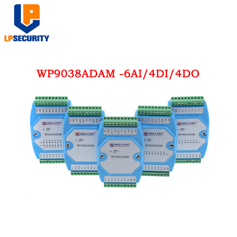 6AI / 4DI / 4DO 0-20MA / 4-20MA Input / Digital Input And Output Module / RS485 MODBUS RTU Communication WP9038ADAM