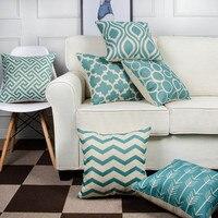 6 Cái/bộ Hình Học Ném Pillow Case Cotton Linen Gối Bìa 45x45 cm Gối Trang Trí Sofa Seat Cushion Bìa Trang Trí Nội Thất