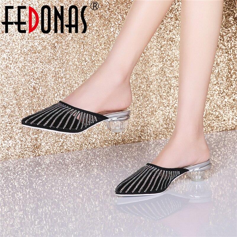 Fedonas Zomer Mode Novetlty Sandalen Vrouwen Elegante Strange Hoge Hakken Zomer Prom Party Sandalen Schoenen Vrouw Strand Slippers