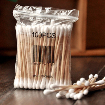 20Bag/Lot Double Head Health Makeup Cosmetics Ear Clean Jewelry Clean Cotton Swab Stick Bastoncillos