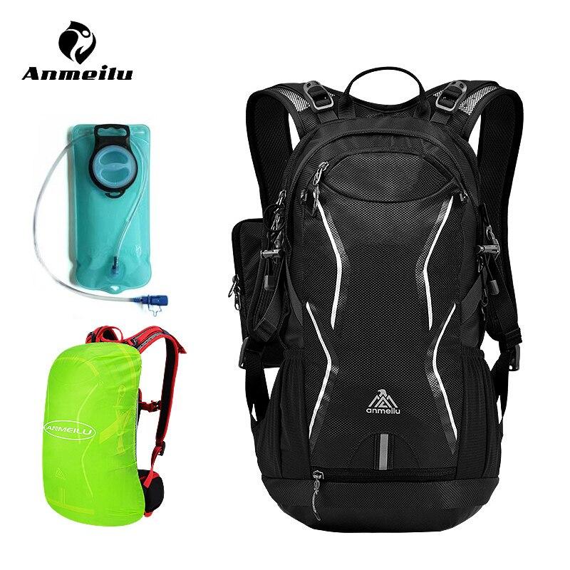 Anmeilu 18L Nylon étanche Sport hydratation sac à dos 2L extérieur sac à eau Camping randonnée cyclisme eau vessie Pack Mochila