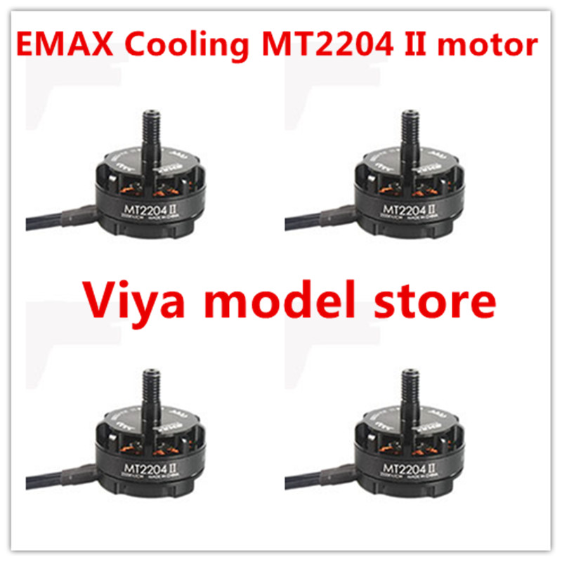 New 4x Emax MT2204 II 2300KV Cooling Brushless Motor 2-4S for Mini Quadcopter QAV250 PRO 280 270 4pcs emax mt2204 ii 2300kv brushless motor for qav250 qav300 fpv racing quadcopter 2cw 2ccw